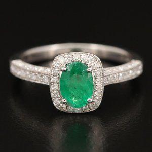 EFFY / 1.85 CT Diamond & Emerald Ring / 14K Gold